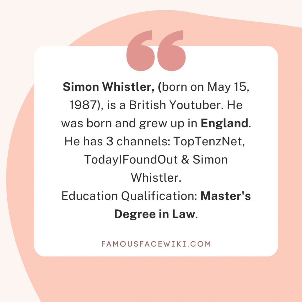Simon whistler Biography