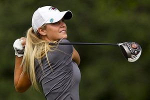 Emma Lavy Bradford playing Golf